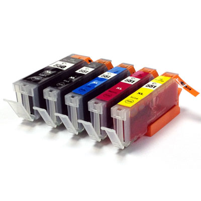 Canon 5x edible ink tank set (PGI-550 CLI-551) with electronic chips