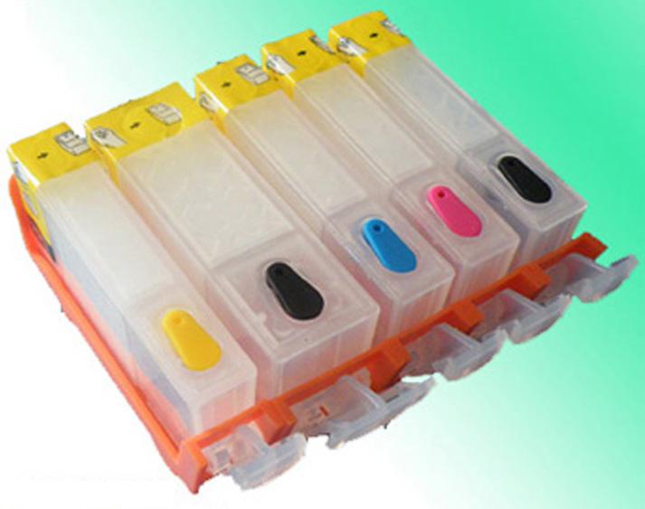 Single PGI-520 / CLI-521 empty refillable ink cartridge