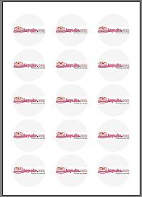 50mm round Icing – 15x circles per sheet - 24 sheets per pack