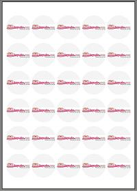 38mm round Icing – 30x circles per sheet - 24 sheets per pack