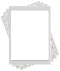 7.5 x 10 inch Icing Sheets
