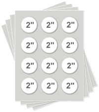 """2.13"""" Round Icing Sheets"""